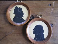 Vintage Silhouettes Framed Woodcroftery by foofarawVINTAGE on Etsy