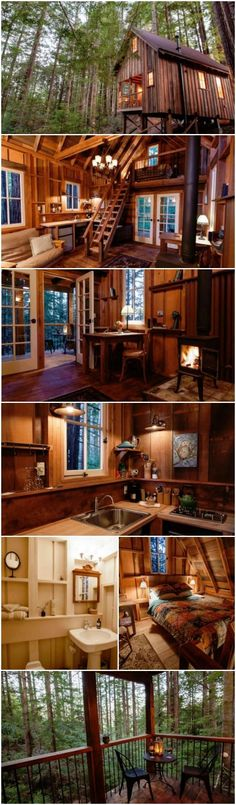 Visiting the redwoods and wine country in California, but looking for somewhere to stay which is a little off the beaten path? Owl Tree Cabin is cloistered in the sheltering beauty of the redwoods near Mendocino, CA. The atmosphere is one of seclusion and tranquil peace and quiet. The cabin looks amazing from the outside … but the interior? Well, you'll just have to read on and see for yourself how incredible it is. #tinyhouses #cottage #cabin