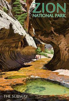 (13x19) Zion National Park - The Subway Vintage Poster Poster http://www.amazon.com/dp/B00MEBVSGI/ref=cm_sw_r_pi_dp_hRJLub1384FEK