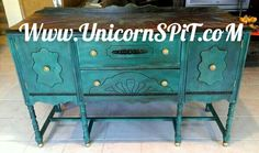 Antique Buffet refinish with Find Furniture, Painted Furniture, Stain Furniture, Furniture Refinishing, Chalk Paint Projects, Wood Projects, Paint Ideas, Buffet Antique, Unicorn Spit Stain