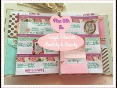 Plan With Me! Target Dollar Spot Planner | MONTHLY & WEEKLY!! - YouTube