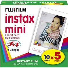 Fujifilm Instax Mini 8 Instant Films 5 Pack x 50 Photos Usable with Polaroid Mio 300 /Lomo Diana Instant Back Instax Mini Camera, Fujifilm Instax Mini 8, Camera Photos, Photographic Film, Camera Deals, Instant Film Camera, Thing 1, Flash Photography, E 10