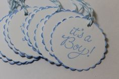 10pc Cute It's A Boy Tags by ThePaperOwl13 on Etsy, $4.00