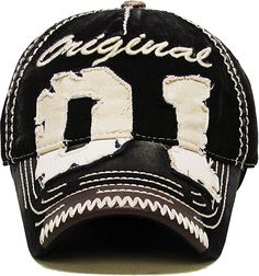 5c53a2dd685 KBVT-554 BLK 01 Original Vintage Ballcap Distressed Washed  Amazon.ca   Clothing   Accessories