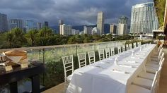 Dine above the treetops with a reception on our Ivanka Terrace.  #TrumpWaikiki #WeddingWednesday #Waikiki #Hawaii #Wedding #Reception #Dinner #Bride #WeddingPlanning #DestinationWedding