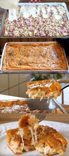 TORTA DE LIQUIDIFICADOR DE QUEIJO E PRESUNTO #torta #tortadeliquidificador#comida #culinaria #gastromina #receita #receitas #receitafacil #chef #receitasfaceis #receitasrapidas