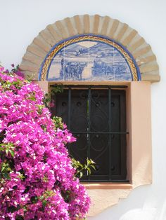 Patio window to the street, private residence, Marbella, Spain