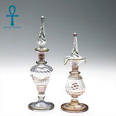 """アンフォラ コスチュームジュエリー""""アヤラ・バー""""とオリエンタルジュエリーセレクトショップ - エジプト香水瓶2本セット美しい細工KeyLife社Egyptian Purfume Bottle ハンドメイド1点もの"""