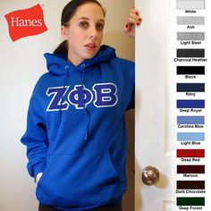 Zeta Phi Beta Hanes 10oz. Hoody $43.95 #Greek #Sorority #Clothing #Zeta #ZetaPhiBeta
