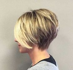 15 Short Hairstyles for Straight Fine Hair - Thin Hair Cuts, Bobs For Thin Hair, Short Hair With Layers, Short Hair Cuts For Women, Thick Hair, Straight Hair, Short Cuts, Bob Haircut For Fine Hair, Haircuts For Fine Hair