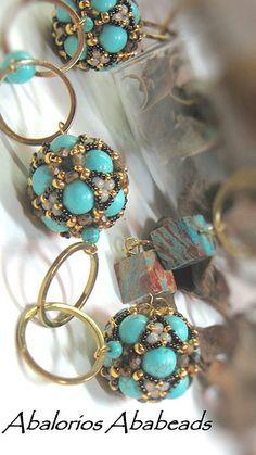 beaded bead  Cluster Beaded Bead
