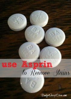 How to Use Asprin as a Stain Remover