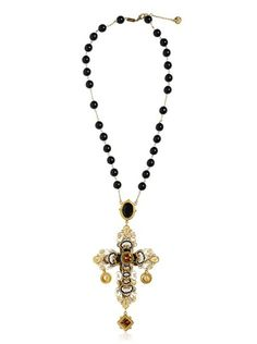 Dolce and gabbana Short Rosary Necklace - Lyst