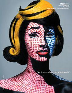 Gazelland Magazine, Roy Lichenstein, make-up, costumes, costume make-up
