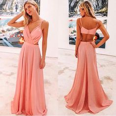 Pink Prom Dresses, A Line Prom Dresses, Evening Dresses, Formal Dresses, Coral Dress, Look Chic, Dream Dress, Dress For You, Beautiful Dresses