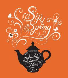 Mona Daly - TYPOGRAPHY - TEA_type_052912 Cool Typography, Typographic Design, Typography Letters, Hand Lettering, Rosehip Tea, Calligraphy Types, Types Of Tea, Word Pictures, Script