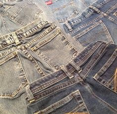 Re-Use Back Pockets From Old Denim Jeans