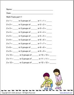 Multiplication: Practice Packet (to 12) - [member-created with abctools] 27 pages of worksheets introducing multiplication to 12.
