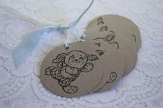 Handmade Gift Tags  Stamped Doggy  Puppy Birthday by wkburden, $4.25