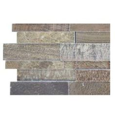Splashback Tile Dimension Brick Wood Onyx Pattern Floor and Wall Tile - 6 in. x 6 in. Tile Sample at The Home Depot - Mobile Grey Wood Coffee Table, Old Wood Table, Countertop Backsplash, Splashback Tiles, Backsplash Ideas, Kitchen Redo, Home Decor Kitchen, Kitchen Remodel, Kitchen Ideas