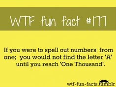 WTF-fun-facts : who knew?! You're going to try it now aren't you? !