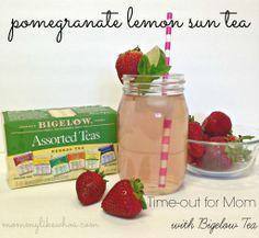 Pomegranate Lemon Sun Tea recipe #AmericasTea #shop #cbias