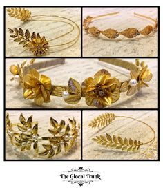 Crown your hair with Gold this Party Season...Hairbands by #TGT! Shop Now: www.theglocaltrunk.com #theglocaltrunk #tgt #hairbands #accessories #greekstyle #victorianfashion #iggers #party #festive #winterfashion
