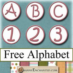 """Free Rose Pink Circle Digital Scrapbook PNG Alphabet ✿ Join 8,000 others. Follow the Free Digital Scrapbook board for daily freebies. Visit GrannyEnchanted.Com for thousands of digital scrapbook freebies. ✿ """"Free Digital Scrapbook Board"""" URL: https://www.pinterest.com/sherylcsjohnson/free-digital-scrapbook/"""