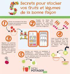 Apprenez à stocker vos fruits et légumes