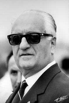 'The Grand Old Man' Enzo Anselmo Ferrari (1898-1988) Italian motor racing driver; entrepreneur; founder of the Scuderia Ferrari Grand Prix motor racing team and the Ferrari automobile marque