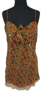 Carole Little Abstract Print Top Multi-Color