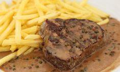 Parfait sur un bon steak. Vegan Recipes, Snack Recipes, Comida Keto, Cooking Sauces, Good Food, Yummy Food, Healthy Snacks, Steak, Ipa