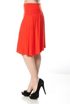 Fold Over Midi Skirt - Red from Casual & Day at Lucky 21 $9.99 in various colors!