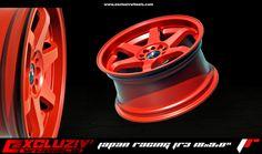 "Jante Japan Racing JR3 18x9.0"" Rouge mat."
