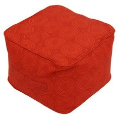 Threshold™ Outdoor Fabric Pouf in Orange Circles available at Target.