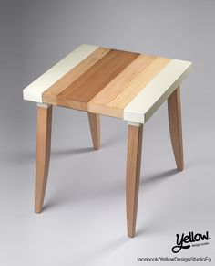 y6. 2001 Wood Planks Side Table by yellow. designstudio. Assemble it yourself in 2 simple steps!