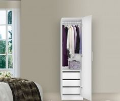 Best 11 Narrow Wardrobe Closet Picture Ideas & 255 best Wardrobe Closet images on Pinterest | Wardrobe closet ...