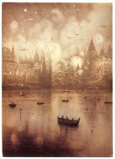 Shaun Tan <--- That's what the caption said... I don't know what that means, but I want to go to there!
