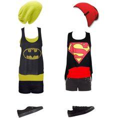 Bff Batman and Superman Outfits Super Hero Outfits, Cool Outfits, Summer Outfits, Edgy Outfits, Party Outfits, Party Dresses, Estilo Converse, Batman Outfits, Superman Outfit