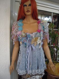 20% OFF top romantic glam gypsy embroidered handmade by GoldenYarn