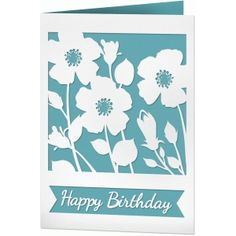Silhouette Design Store - View Design #63040: field of flowers birthday card