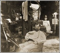 Alphonse Mucha in his Studio In his museum in Prague, I stroked his desk. yum