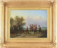Alexis De Leeuw Fine Antique Oil Painting Country Field Children Signed Painting, Oil, Country, Antiques, Ebay, Antiquities, Antique, Rural Area, Painting Art