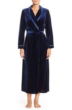 Oscar de la Renta Sleepwear Oscar de la Renta Sleepwear Velvet Robe available at #Nordstrom