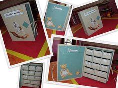 Notre petit monde: Tutoriel de la boite à souvenir Naissance Diy Souvenirs, Baby Scrapbook, Diy Box, Scrapbooks, Baby Love, Mini Albums, Origami, Stampin Up, Projects To Try