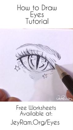 How to Draw Anime Eyes: Step by Step for Beginners Free Printable PDF by JeyRam . - How to Draw Anime Eyes: Step by Step for Beginners Free Printable PDF by JeyRam – – - Drawing Eyes, Manga Drawing, Manga Art, Anime Art, Eye On Anime, Eye Drawing Tutorials, Drawing Techniques, Art Tutorials, Regard Animal