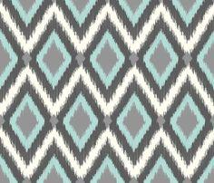 Tribal Ikat Chevron fabric by jenniferstuartdesign on Spoonflower - custom fabric