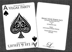 Vegas Party/Poker Party Themed Invitations  by LDesignCreations, $20.00
