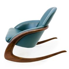 Crescent Rocker by Wendell Castle: Walnut and leather, 1984. @designerwallace