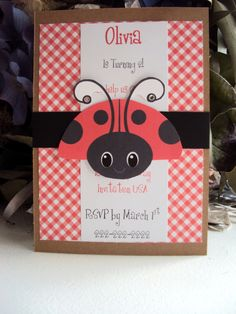 LadyBug Birthday Invitation  Girls Birthday by TooCuteInvites, $30.00